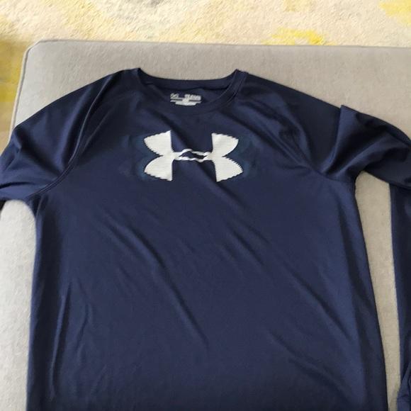 sprzedaż online wykwintny design Nowa lista Boys youth XL navy under armour long sleeve shirt
